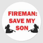 Save My Son In Case of Fire Stickers