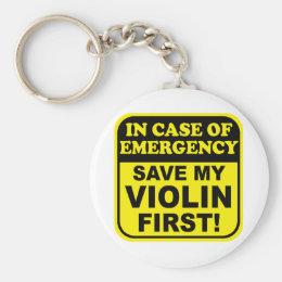 Save My Violin Keychain
