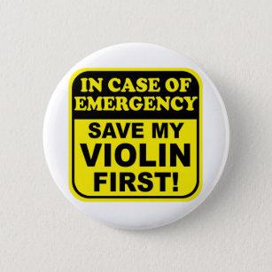 Save My Violin Pinback Button