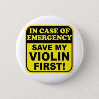 Save My Violin Pinback Button