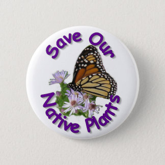 Save Native Asters Monarch Button