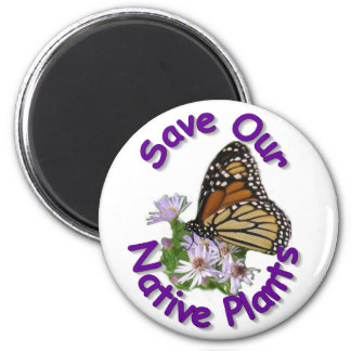 Save Native Asters Monarch Magnet