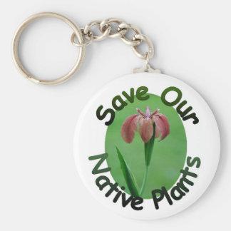 Save Native Plants Red LA Iris Keychain
