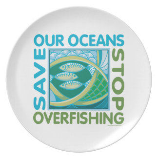 Save Oceans Party Plate