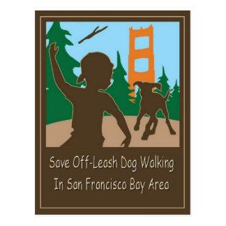 Save Off-Leash Dog Walking Areas Senator Feinstein Postcard
