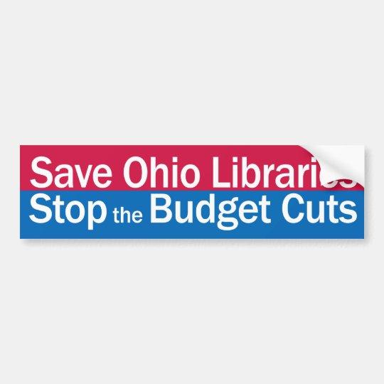Save Ohio Libraries bumper sticker