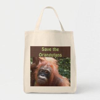 Save Orangutan Endangered Wildlife Tote Bag