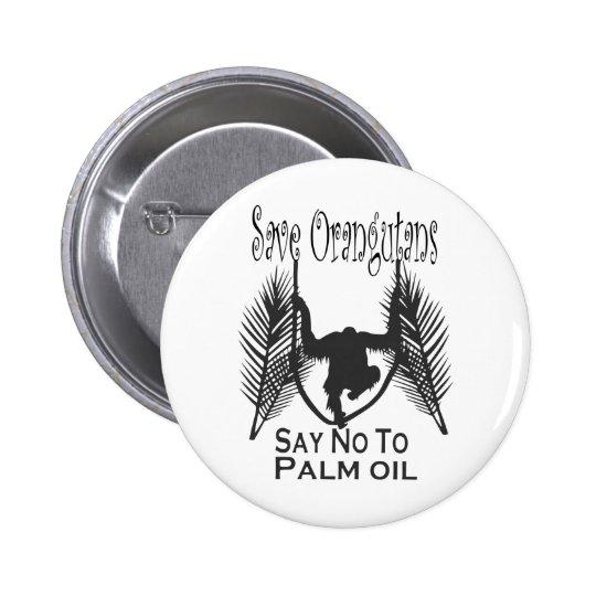 Save Orangutans Say No To Palm Oil Button