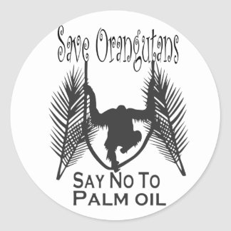 Save Orangutans Say No to Palm Oil Stickers