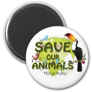 Save our Animals 2 Inch Round Magnet