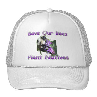 Save Our Bees and Wildflowers Hat