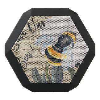 Save Our Bees Collage Black Bluetooth Speaker