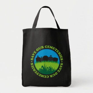 Save Our Cemeteries Grocery Tote Bag