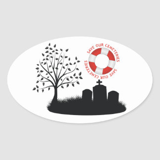 Save Our Cemeteries Oval Sticker