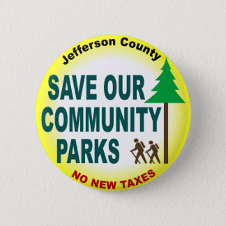 Save Our Community Parks Pinback Button