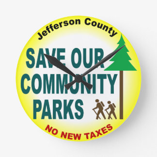 Save Our Community Parks Round Wallclock