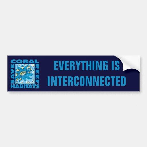 Save Our Coral Reefs Car Bumper Sticker