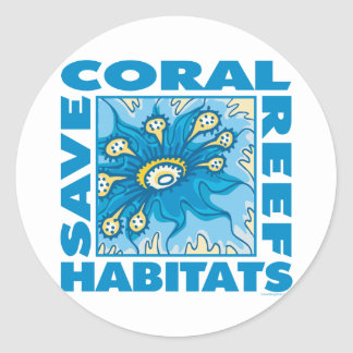 Save Our Coral Reefs Classic Round Sticker
