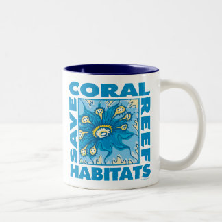 Save Our Coral Reefs Two-Tone Coffee Mug