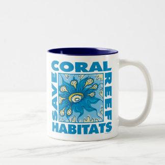 Save Our Coral Reefs Two-Tone Coffee Mug