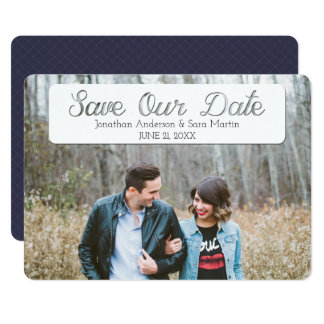 Save Our Date Cut Out Text Overlay Photo Card