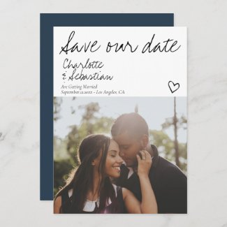 Save Our Date Handwritten Personalized Photo Save The Date