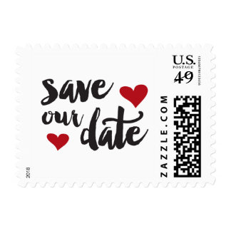 Save our Date Heart Postage