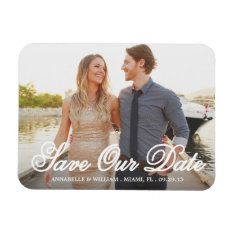 Save Our Date Overlay | Save The Date Magnet at Zazzle