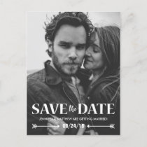 Save our Date Photo Wedding Announcement Postcard