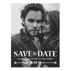 Save Our Date Photo Wedding Postcard at Zazzle
