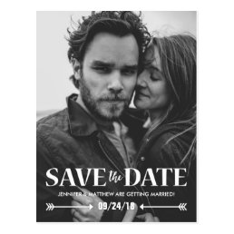 SAVE OUR DATE PHOTO WEDDING POSTCARD