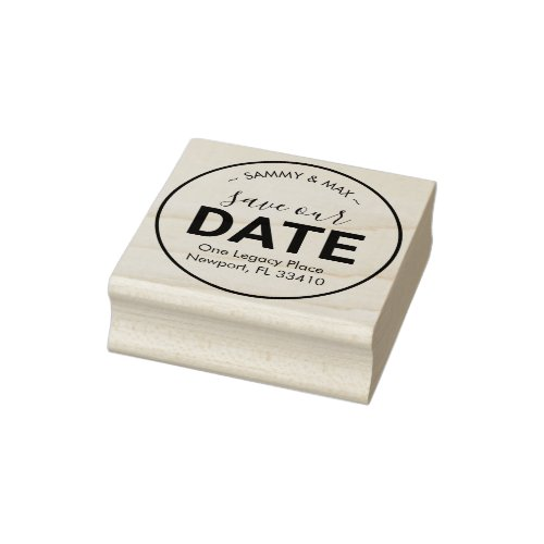 Save Our Date Return Address Rubber Stamp
