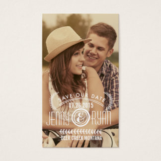 SAVE OUR DATE   SAVE THE DATE BUSINESS CARDS
