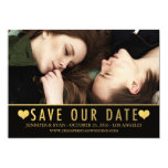 SAVE OUR DATE | SAVE THE DATE GOLD CARD