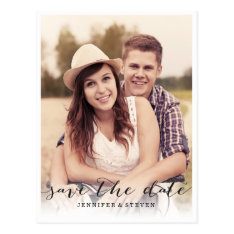 Save Our Date | Save The Date Script Announcement Postcard at Zazzle