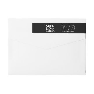 Save Our Date | Save the Date Wraparound Labels
