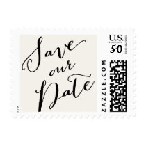 Save Our Date Script Calligraphy Wedding Stamps