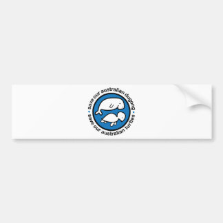 Save our dugong & turtles bumper sticker