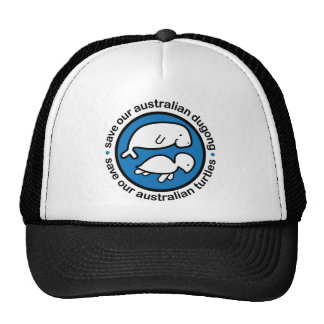 Save our dugong turtles trucker hats
