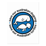 Save our dugong & turtles postcard