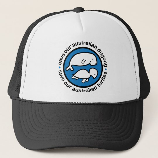Save our dugong & turtles trucker hat