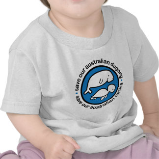 Save our dugong & turtles t shirts