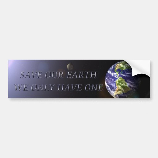 SAVE OUR EARTH CAR BUMPER STICKER