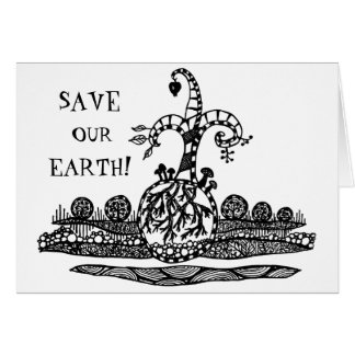 save our earth! greeting card