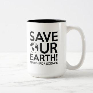 Save Our Earth Two-Tone Coffee Mug