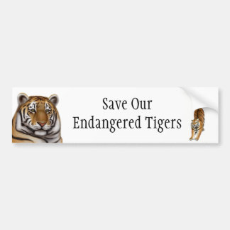 Save Our Endangered Tigers Bumper Sticker