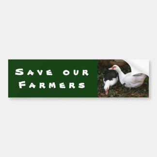 Save Our Farmers Bumper Sticker