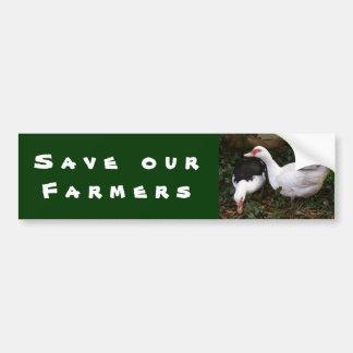 Save Our Farmers Bumper Sticker