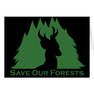 Save Our Forests Card