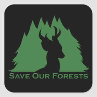 Save Our Forests Square Sticker